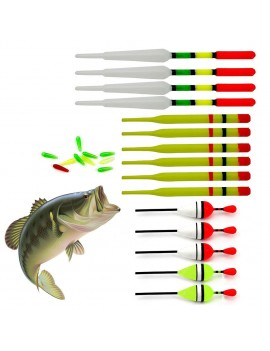 15 Pcs Assorted Course Carp Fishing Float Tackle Set & Rubbers Fishing Articles Buoy