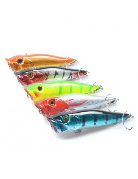 3D Eyes Treble Hooks Fishing Lures Crankbait Wobblers Pesca Bait Lure Simulate Hard Plastic Poper 9.5cm/12g