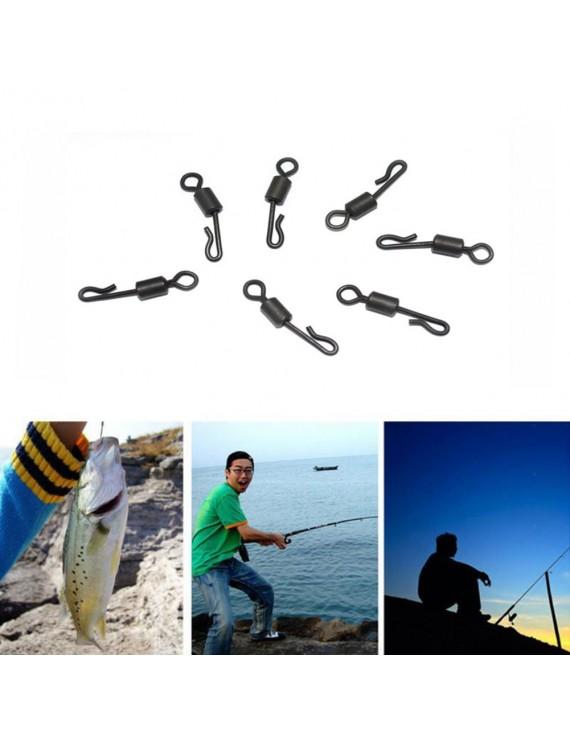 10pcs Q-shape Barrel Swivels Hanging Connector Fishing Terminal Tackle Accessory