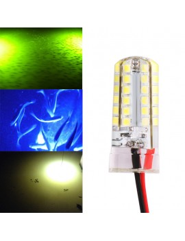 12V Underwater White LED Lamp Night Attracts Fishes Snook Light Dock Decorative Light Fishing Bait Light