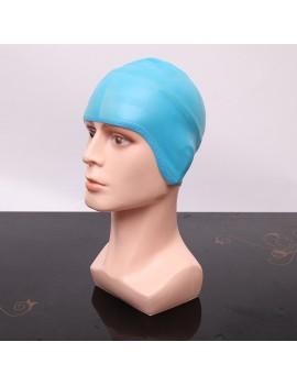 Silicone Gel Swimwear Cap Waterproof Ear Long Hair Protection High Elastic Swim Pool Swimming Hats For Men Women Comfort Equipment