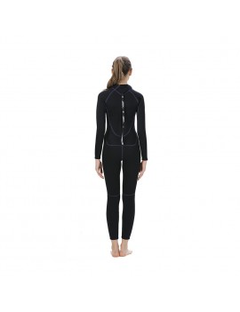 3MM Neoprene Women Wetsuit Scuba Diving Suit Long Sleeve Snorkeling Boating Swimming Windsurfing Swimwear
