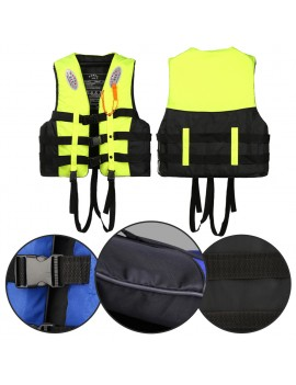 Adults Kids Life Jacket Swimming Fishing Floating Kayak Buoyancy Aid Vest With Whistle Suit For Drowning Floods