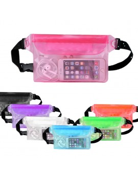 Waterproof dry bag Pouch Bag Waterproof Case with Waist Strap for Beach Swimming Boating Kayaking