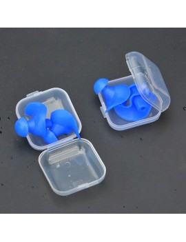 Reuseable Silicone Spiral Sleeping Earplug Water Sport Professional Swimming Diving Ear Plugs Waterproof Dustproof