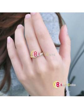 1pcs Siliver Gold 18K Rose Gp Elegent Classic Crystal Fashion Bridal Finger Ring Gift