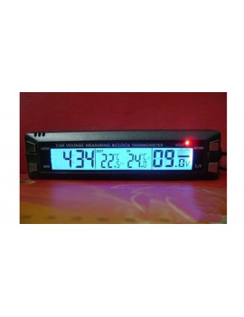 3-in-1 Car Auto Digital Clock + Thermometer + Voltmeter