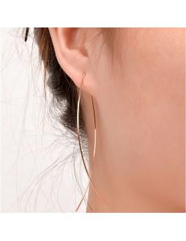 1 Pair Simple Fish Wire Pattern Earrings Fashion Ear Stud Dangle Women Punk Jewelry