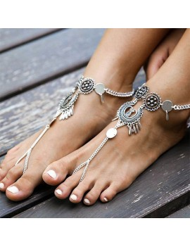1Pc Women Retro Bohemia Beach Anklet Sandals Foot Chain Ankle Bracelet Boho Jewelry