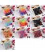 260-300pcs Colorful Rubber Hairband Rope Ponytail Elastic Ties Braids