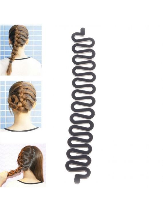 1pcs Women Hot Magic Hair Styling Clip Stick DIY Maker Braid Tool Hair Accessory