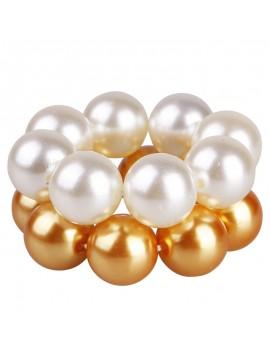 Women's Big Pearls Hair Band Rope Elastic Ponytail Holder Scrunchie Accessories