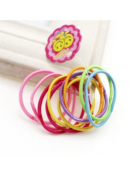 Women Girls' Elastic Hair Band 100pcs/pack Colorful Hair Ties Ropes Scrunchy Ponytail Rubberbands Tie Gum Accesorios Pelo