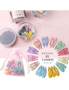 Dark Color Cute Snap Baby Pins INS Fashion Colorful Hairclips Metal Barrettes Styling Accessories (with Storage Bag)