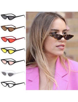 Unisex Flat Top Eyeglasses Small Triangle Frame Cat Eye Sunglasses Women UV400 Fashion Color Ocean Film Sun Glasses Cool