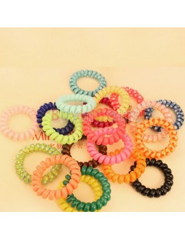 1PCS 2PCS 3PCS 5PCS 10PCS New Fashion Girl Child Summer Telephone Line Hair Band Circle Phone Ring Hair Rope