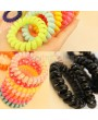 1PCS 2PCS 3PCS 5PCS 10PCS New Fashion Girl Child Summer Telephone Line Hair Band Circle Phone Ring Hair Rope