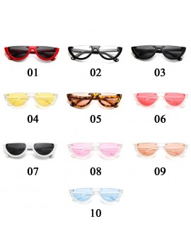 Cool Trendy Half Frame Rimless Cat Eye Sunglasses Women Fashion Clear Brand Designer Sun Glasses For Female