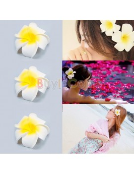 1/2/3/5/10pcs Hawaiian Foam Flower Bridal Wedding Party Hair Clip White Plumeria