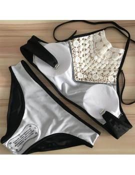 Beautiful Women Swimwear Set Push-up Padded Bandage Swimsuit Swimwear Beachwear