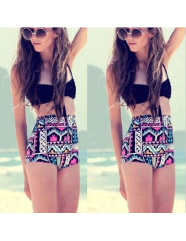 Fashion New Women Sexy High Waist Bikini Set Bandeau Push Up Halter Swimwear