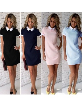 Fashion  Women Short Sleeve Office Bodycon Evening Party Cocktail Short Summer Mini Dress