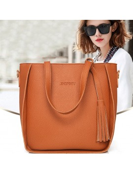 4Pcs/Set Women Bags Large Capacity Purse Handbag Wallets Coin Card Package Ladies Shoulder Bag