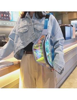 Clear Laser Belt Bum Bag Waterproof Transparent Punk Holographic Fanny Pack Waist Pack Bag