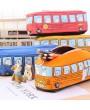 1pcs Cute Cartoon Pen Pencil Case Makeup Cosmetics Bag Box Bus Canvas Storage Large Zipper School Bag Kids Student