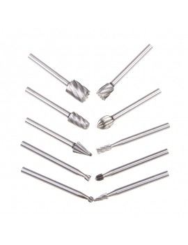 10pcs HSS Routing Router Bits Rotary,Engraving,Wood Working Tool
