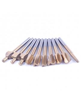 "10pcs 1/8"" Shank Hss Titanium Router Bits For Dremel Foredom Rotary Tool Set Use"