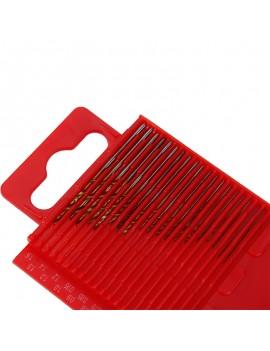 20pcs Mini HSS High Speed Steel Twist Drill Bit Set Tool Craft With Red Case