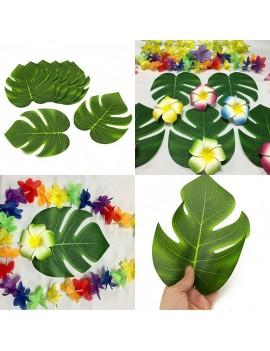 12pcs 8/13inch Artificial Leaf Tropical Palm Leaves Simulation Leaf Wedding Party Decoration