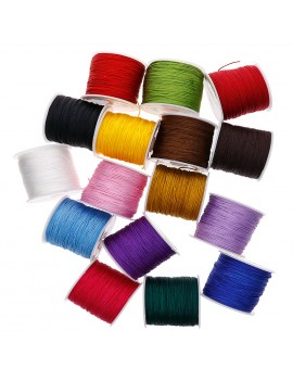 0.8mm 45M/Roll Nylon Cord Thread Chinese Knot Macrame Rattail Bracelet Braided String