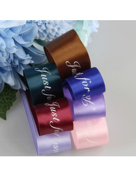 25MM 10M Just For You Printed Polyester Ribbon for Wedding Christmas Party Decorations DIY Card Gifts Wrapping