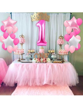 25PCS Baby Birthday Shown Number 1 Latex Balloons Festival Party Decor for Child Gift
