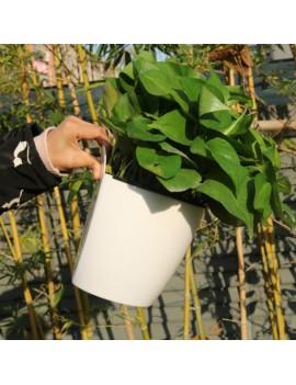 11/13/19cm Hanging Plastic Self-watering Plant Flower Pot Wall Planter Garden Decor