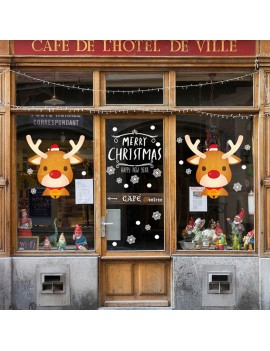 2020 DIY Elk Christmas Wall Stickers Window Glass Festival Decals Santa Murals New Year Christmas Decor