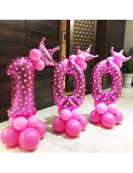 19pcs 32inch Number Foil Balloons Digit Helium Ballons Birthday Party Decor