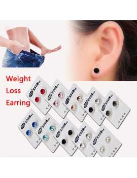 1 Pair New Magnetic Weight Loss Earrings Slimming Crystal Rhinestone Earring Magnetic Stud Therapy Health Care 6mm