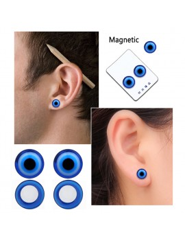 1/2/5 Pair Blue Black Healthy Stimulating Acupoints Stud Earring Bio Magnetic Therapy Weight Loss Earrings For Women Men