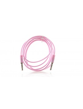 3.5MM Male-Male Audio Cable - Pink (100cm)