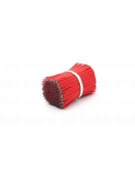 100mm 1007# 28 AWG Lead Wires (1000-Pack) - 100mm, Red: 1000-Pack