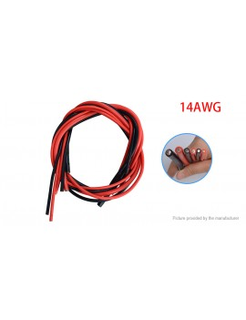 14AWG Soft Silicone Flexible Wire Cable (3m/2-Pack)