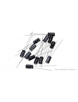 0.1uF-330uF Aluminum Electrolytic Capacitors Value-Pack (215 Pieces)