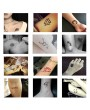 1 Sheet  6 maps Body Art Paint Stencil Temporary Henna Tattoo Stencil Gifts Templates Decal DIY Flower Painting