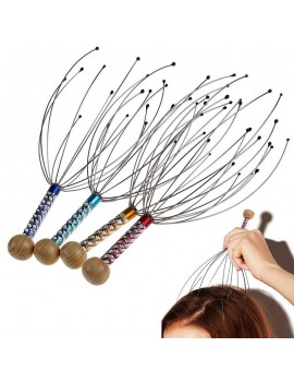 1/2/5/10PCS Head Neck Scalp Massager Massage Octopus Equipment Stress Release Relax Tool